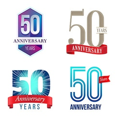 50 Years Anniversary Symbol vector image vector image
