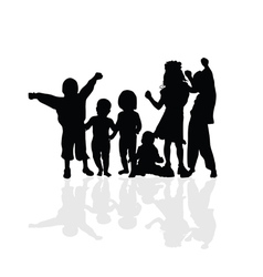 Kids happy silhouette vector