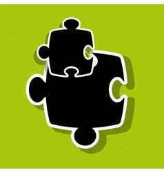 Puzzle piece icon design vector