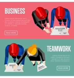 Business website templates top view of architects vector