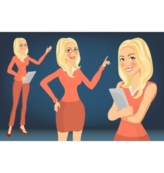 Business Woman blonde Girl young women in vector image
