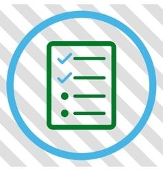 Checklist page icon vector