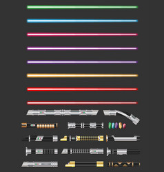 Colorful with futuristic swords vector