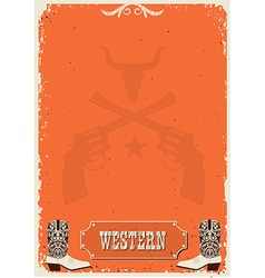 Cowboy background western poster for text vector image vector image