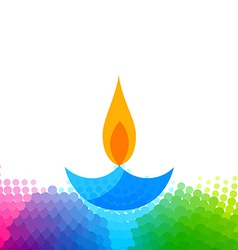 Creative colorful diwali diya vector