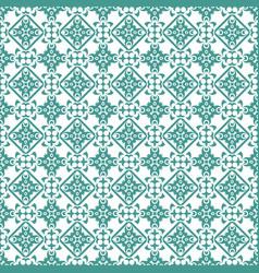 Cyan damask seamless pattern background vector