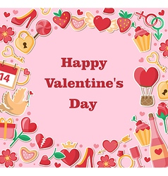 Decorative valentine background vector