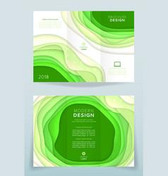 Design of business brochure vector
