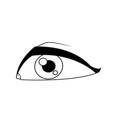 Eye avatar male look expression icon vector