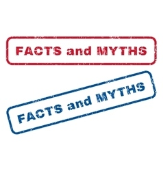 Facts and myths rubber stamps vector