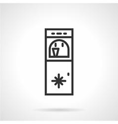 Floor water cooler line icon vector