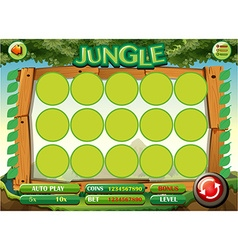 Game template with jungle theme vector