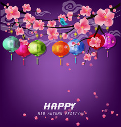 Happy mid autumn festival vector