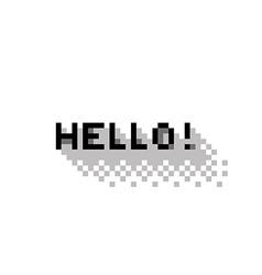 Hello vector image vector image