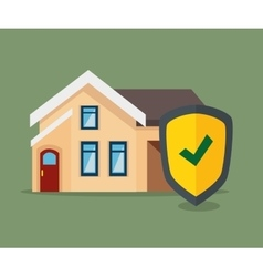 House insurance service isolated icon vector
