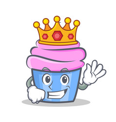 King cupcake character cartoon style vector