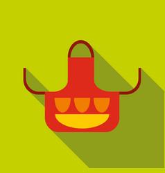 Kitchen apron icon flat style vector