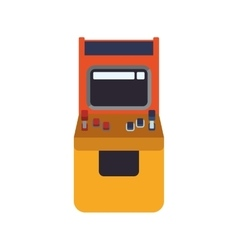machine old pixel video game play icon vector image vector image