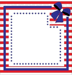 Patriotic background for Fourth of July vector image