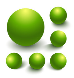 realistic spheres vector image vector image