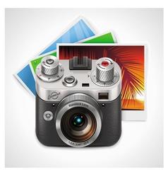 retro camera xxl icon vector image
