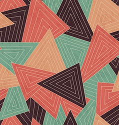 Retro scattered triangle seamless pattern with vector