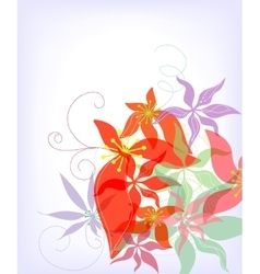 Romantic flower background vector image