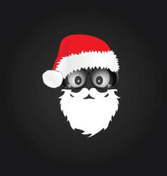 Santa claus with chrismas hat vector