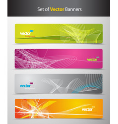 Set of abstract colorful headers with lines and vector image vector image