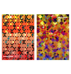 square patterns design backgrounds vector image vector image