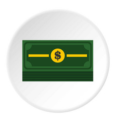 Stack of dollars icon circle vector