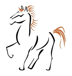 Stallion at sketch vector image