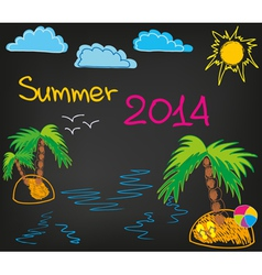 Summer 2014 2 vector image