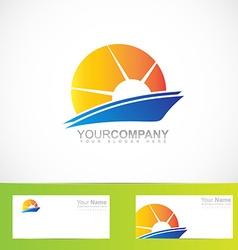Sun rays logo vector