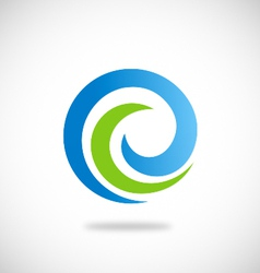 swirl round abstract ecology logo vector image vector image