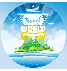 Travel the world tropical background vector image vector image