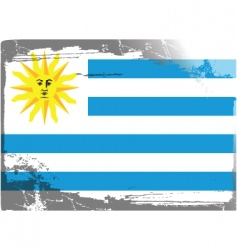 uruguay national flag vector image