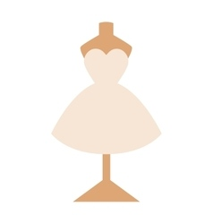 Wedding dress isolated on white background vector image