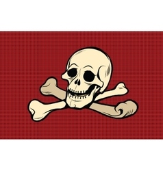 Jolly roger the skull and crossbones vector