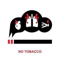 Smoke danger icon vector