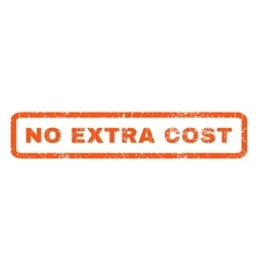 No extra cost rubber stamp vector