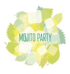 Concept simple of mojito ingredients vector
