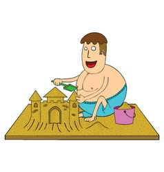 Making sand castle vector