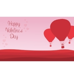Valentine theme air balloon backgrounds vector