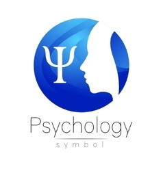 Modern head logo sign of psychology profile human vector