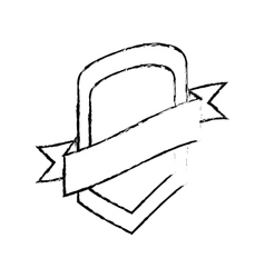 Shield protection template sketch vector