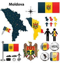Map of Moldova vector image