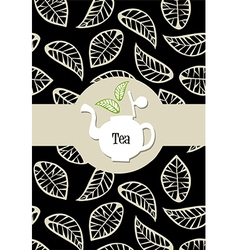 Tea package label vector