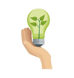 green idea design vector image