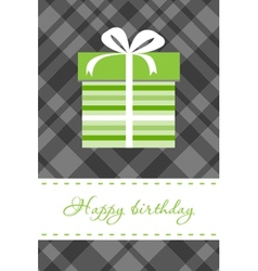 Greeting card with present box vector